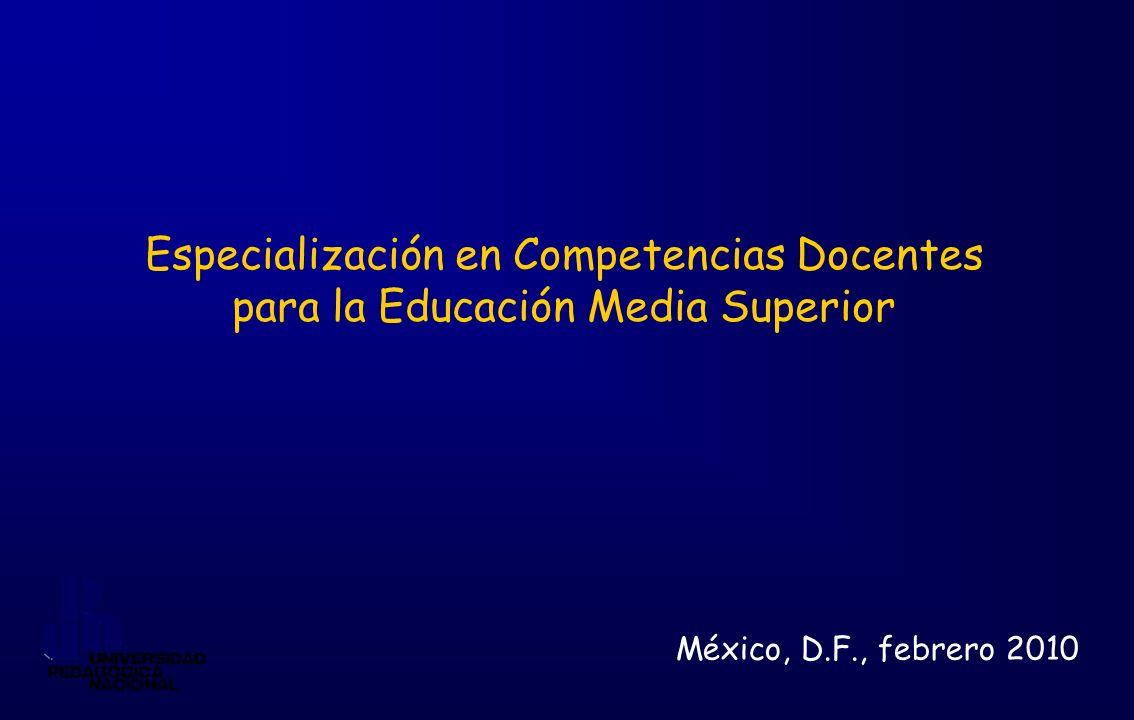 Especialización en Competencias Docentes