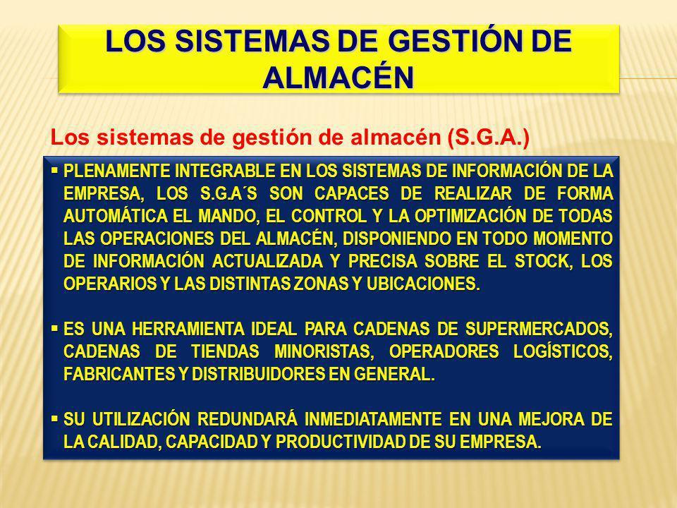 LOS SISTEMAS DE GESTIÓN DE ALMACÉN