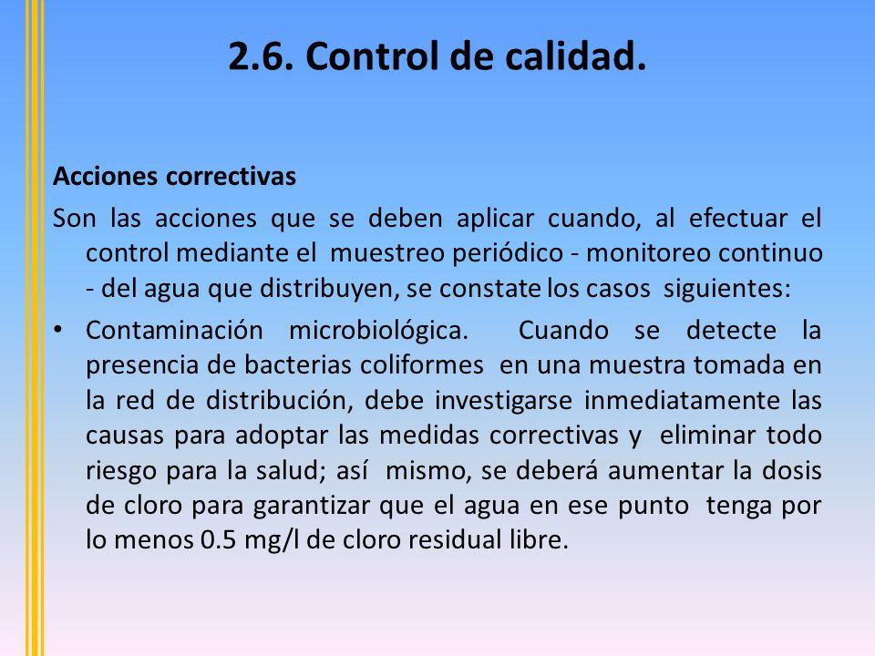 2.6. Control de calidad. Acciones correctivas