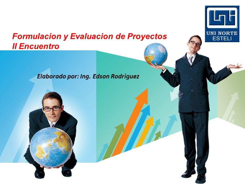 Formulacion y Evaluacion de Proyectos II Encuentro