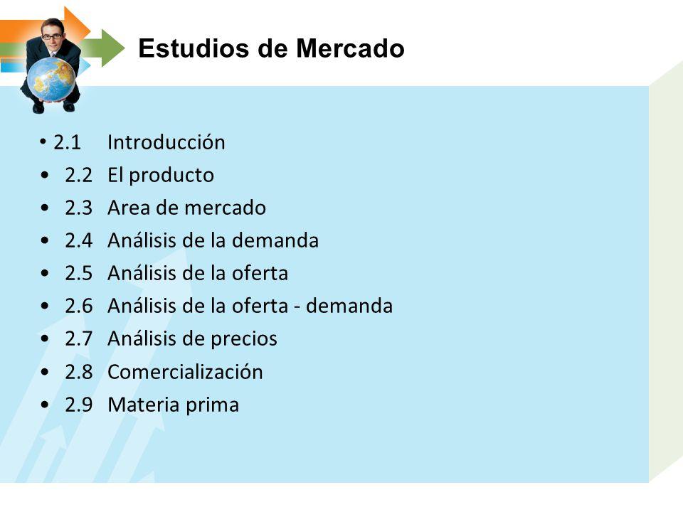 Estudios de Mercado 2.1 Introducción 2.2 El producto