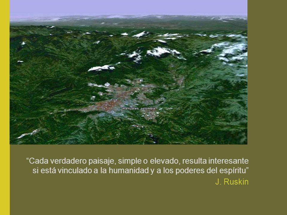 Cada verdadero paisaje, simple o elevado, resulta interesante si está vinculado a la humanidad y a los poderes del espíritu J.