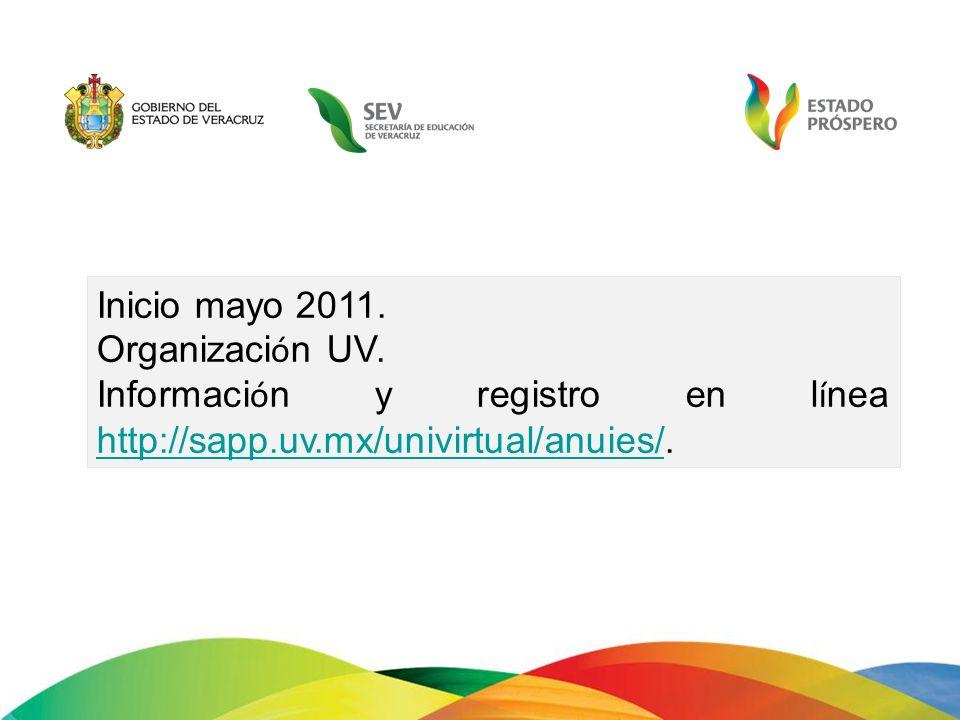Inicio mayo 2011. Organización UV.
