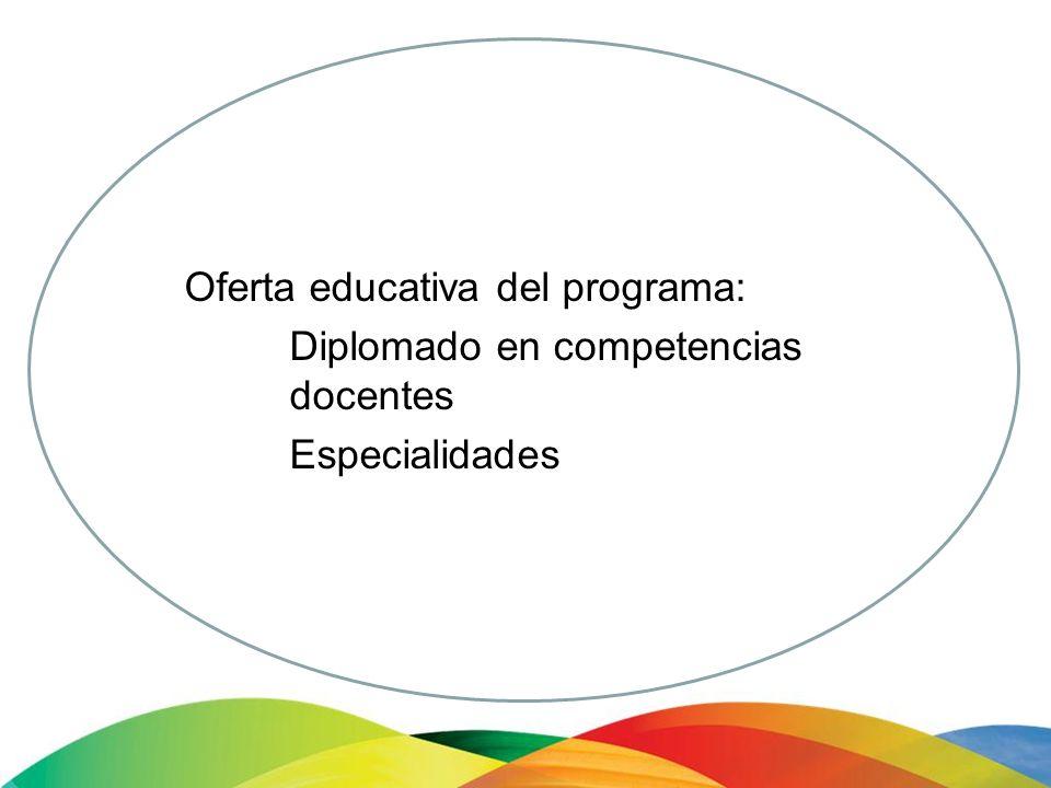 Oferta educativa del programa: