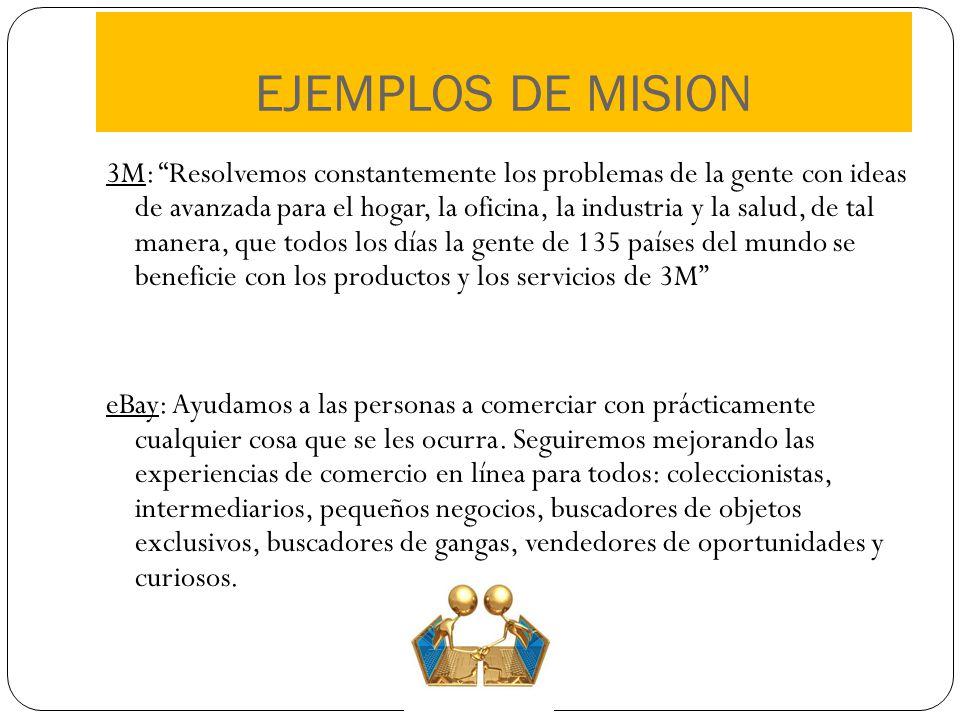 EJEMPLOS DE MISION