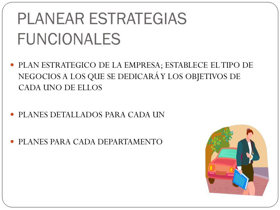 PLANEAR ESTRATEGIAS FUNCIONALES