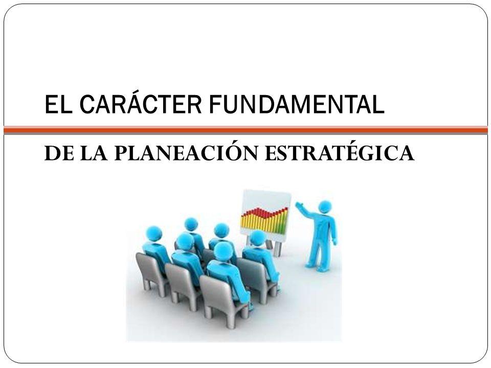 EL CARÁCTER FUNDAMENTAL