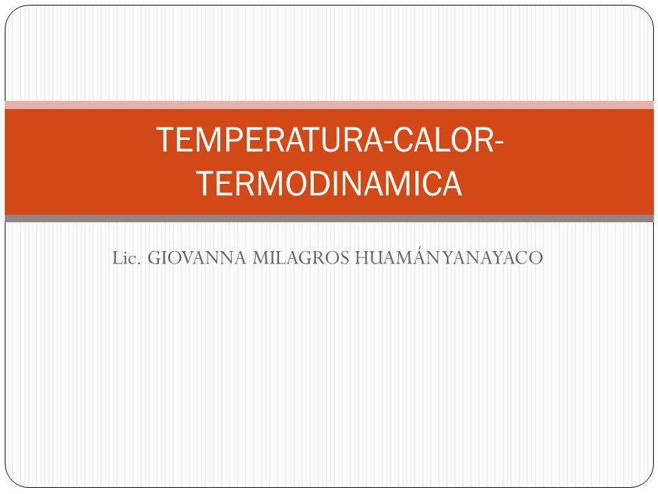 TEMPERATURA-CALOR-TERMODINAMICA
