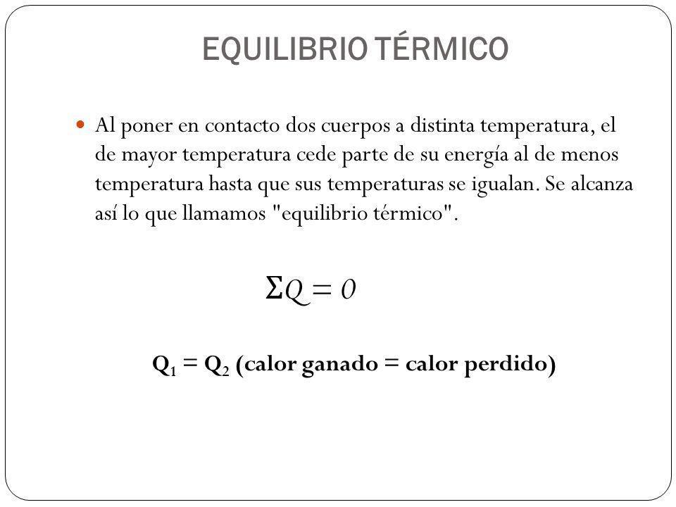 EQUILIBRIO TÉRMICO ΣQ = 0