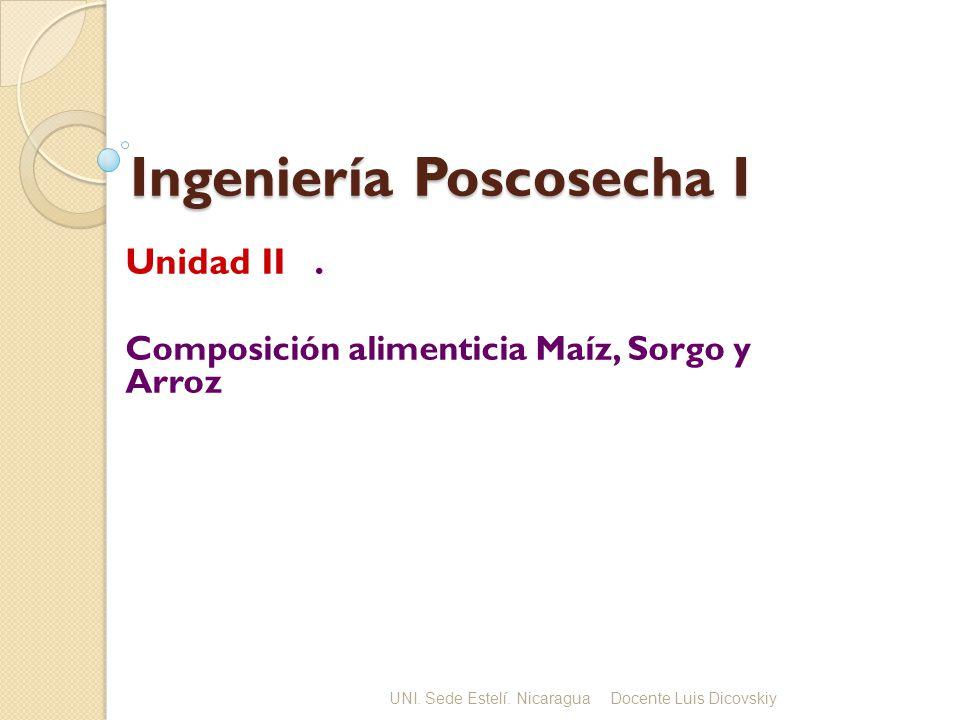 Ingeniería Poscosecha I