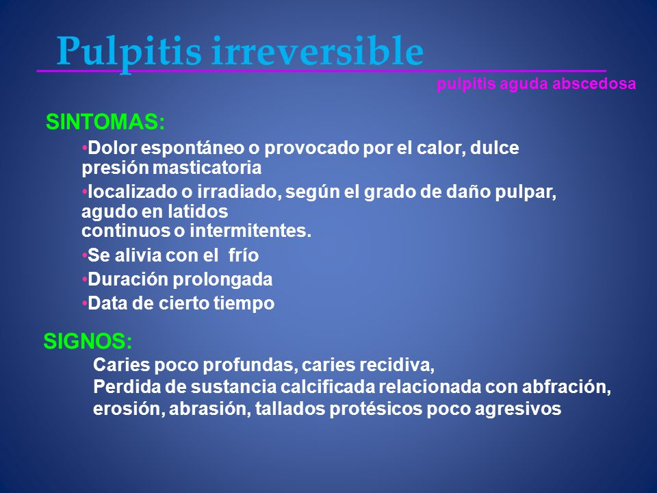 Pulpitis irreversible