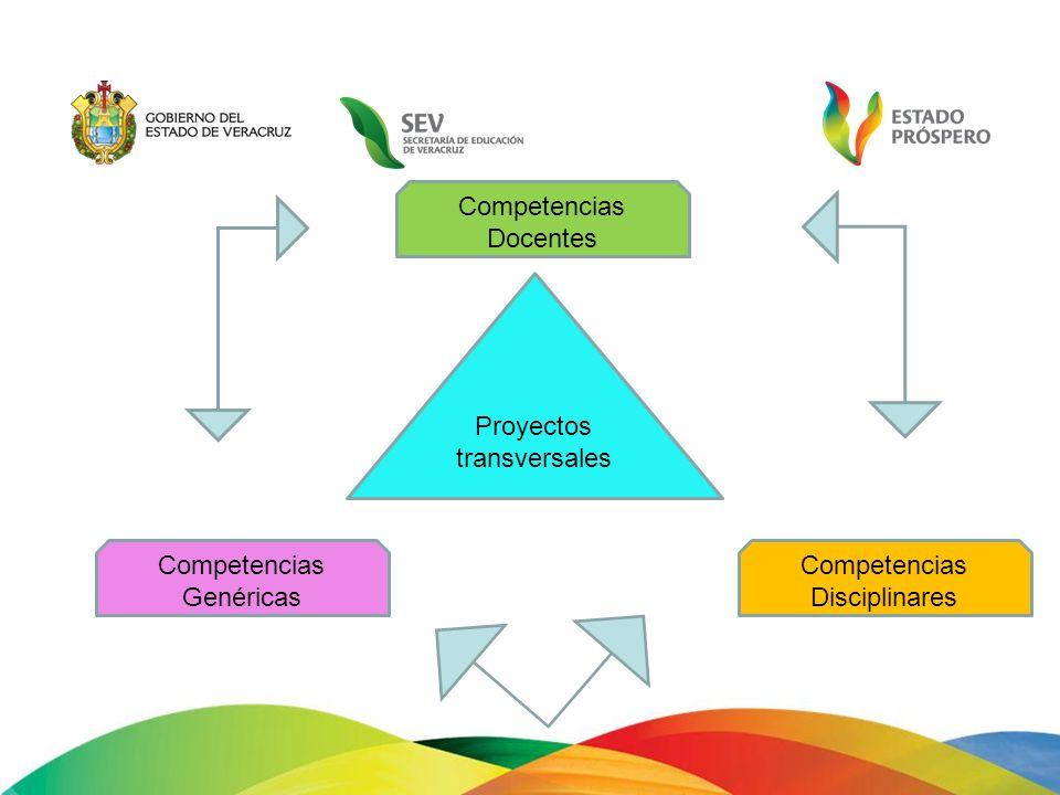 Competencias Docentes Proyectos transversales Competencias Genéricas Competencias Disciplinares