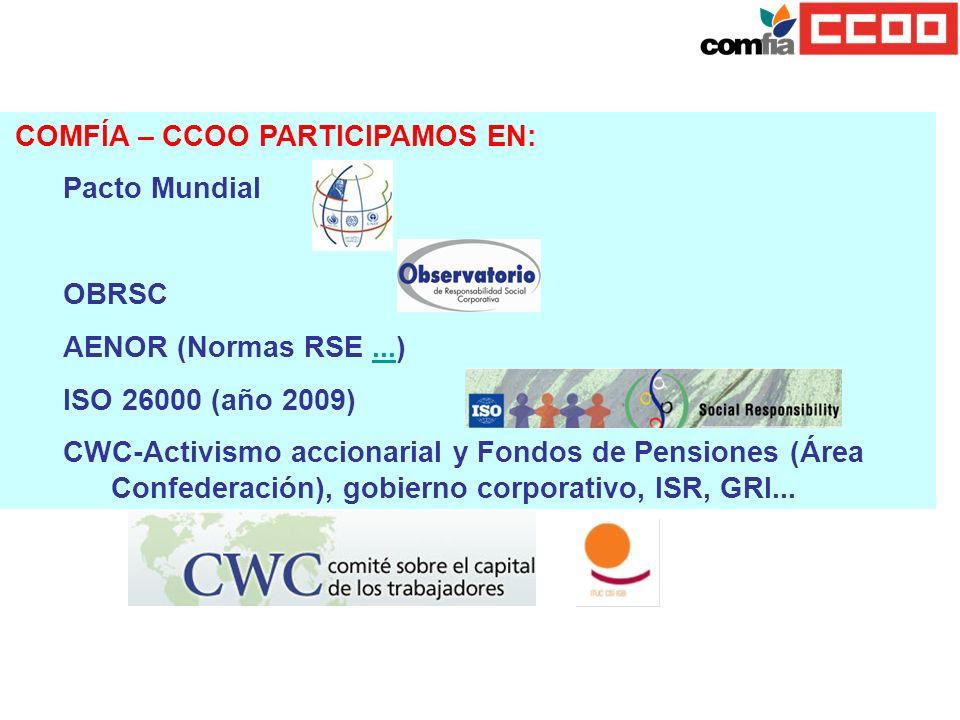 COMFÍA – CCOO PARTICIPAMOS EN: Pacto Mundial