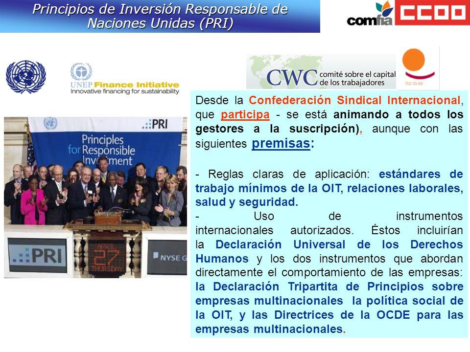 Principios de Inversión Responsable de Naciones Unidas (PRI)