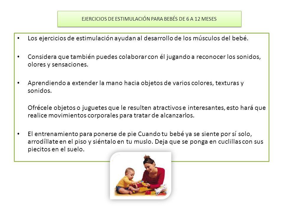 EJERCICIOS DE ESTIMULACIÓN PARA BEBÉS DE 6 A 12 MESES