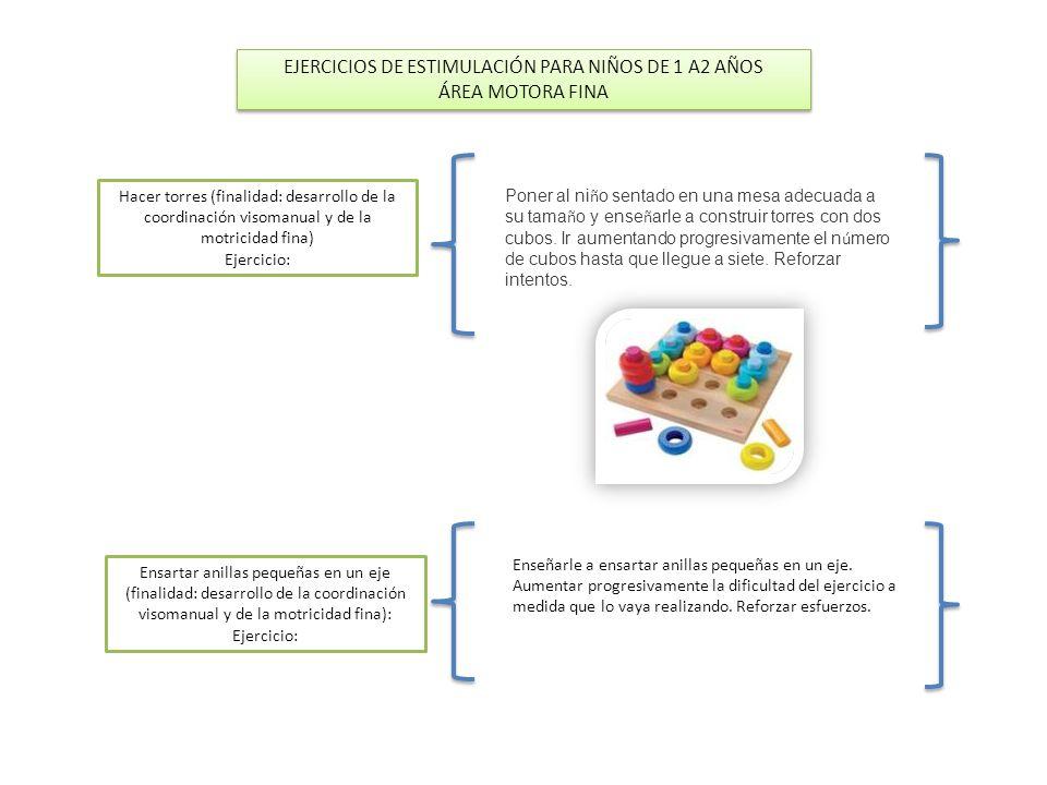 EJERCICIOS DE ESTIMULACIÓN PARA NIÑOS DE 1 A2 AÑOS