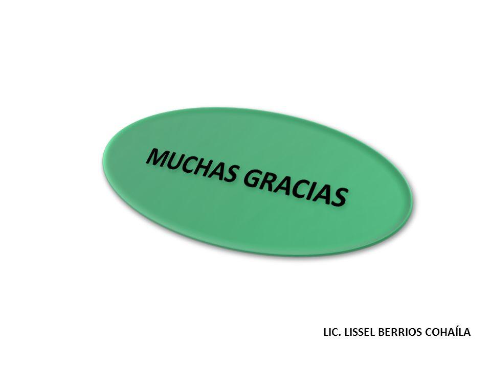 MUCHAS GRACIAS LIC. LISSEL BERRIOS COHAÍLA
