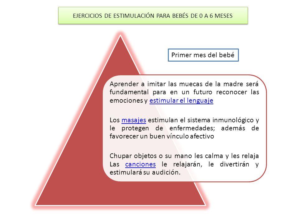 EJERCICIOS DE ESTIMULACIÓN PARA BEBÉS DE 0 A 6 MESES