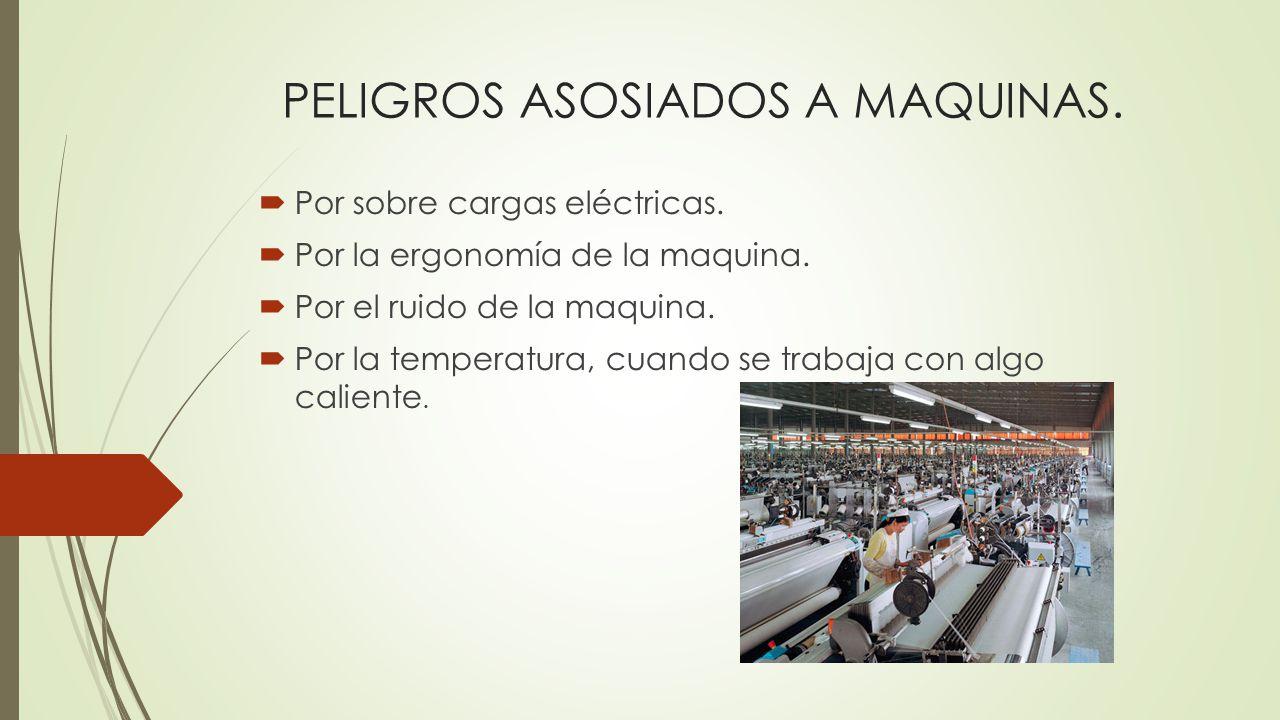 PELIGROS ASOSIADOS A MAQUINAS.