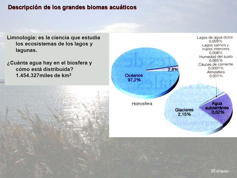 Descripción de los grandes biomas acuáticos