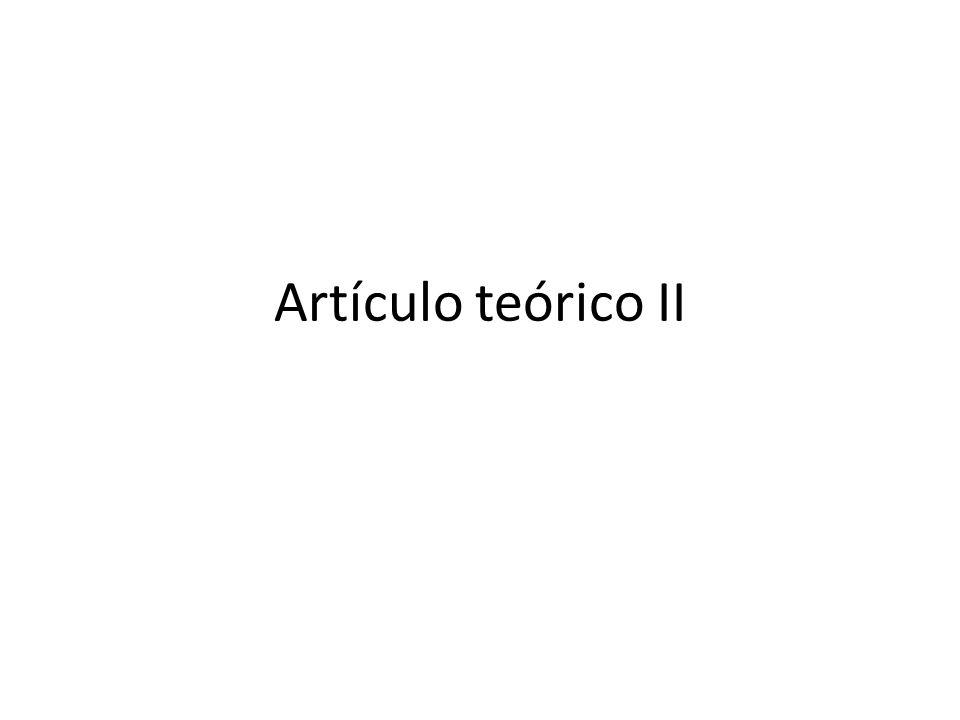 Artículo teórico II