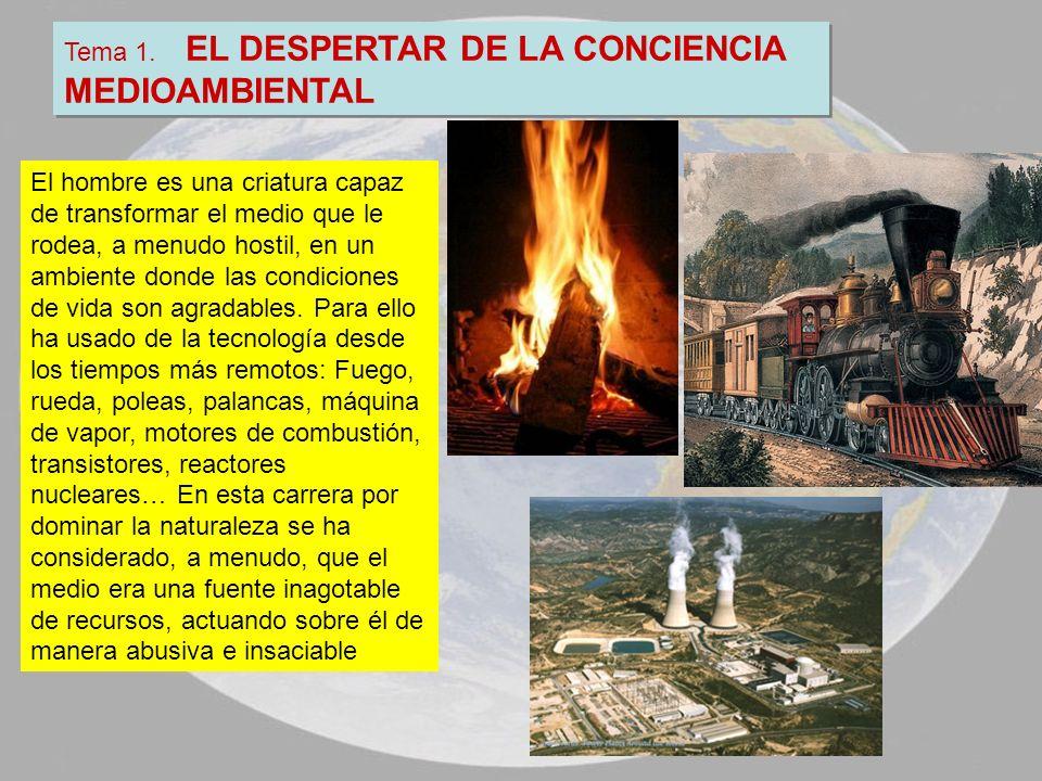 Tema 1. EL DESPERTAR DE LA CONCIENCIA MEDIOAMBIENTAL