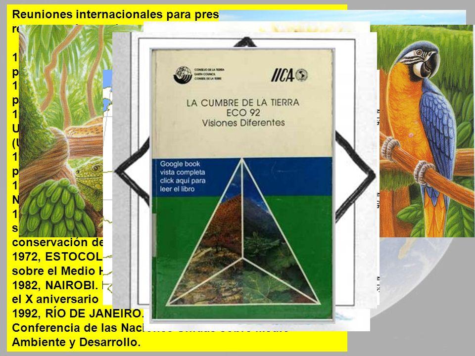 Reuniones internacionales para preservar y conservar los recursos y la propia naturaleza: