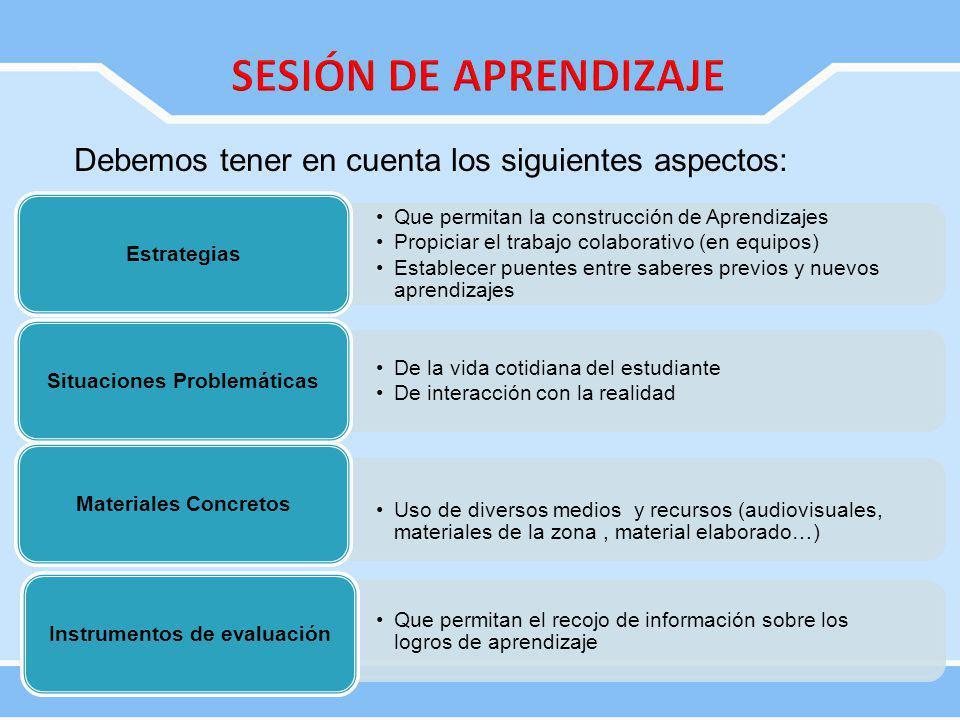 Situaciones Problemáticas Instrumentos de evaluación