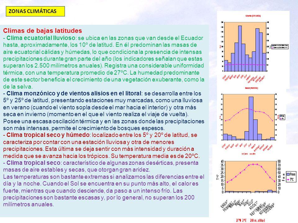 Climas de bajas latitudes