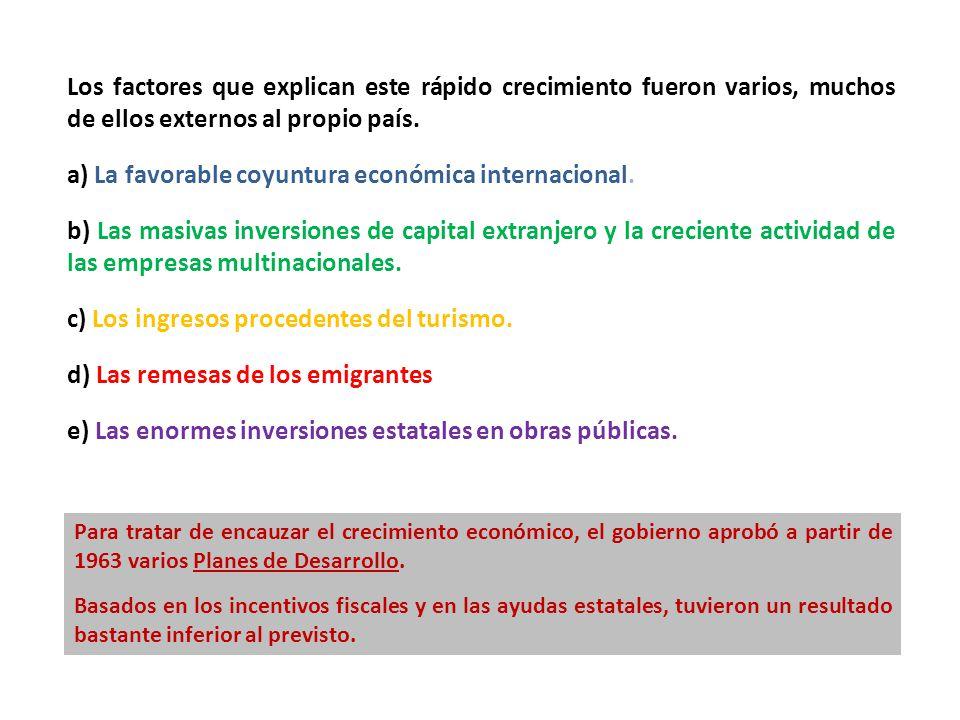 a) La favorable coyuntura económica internacional.