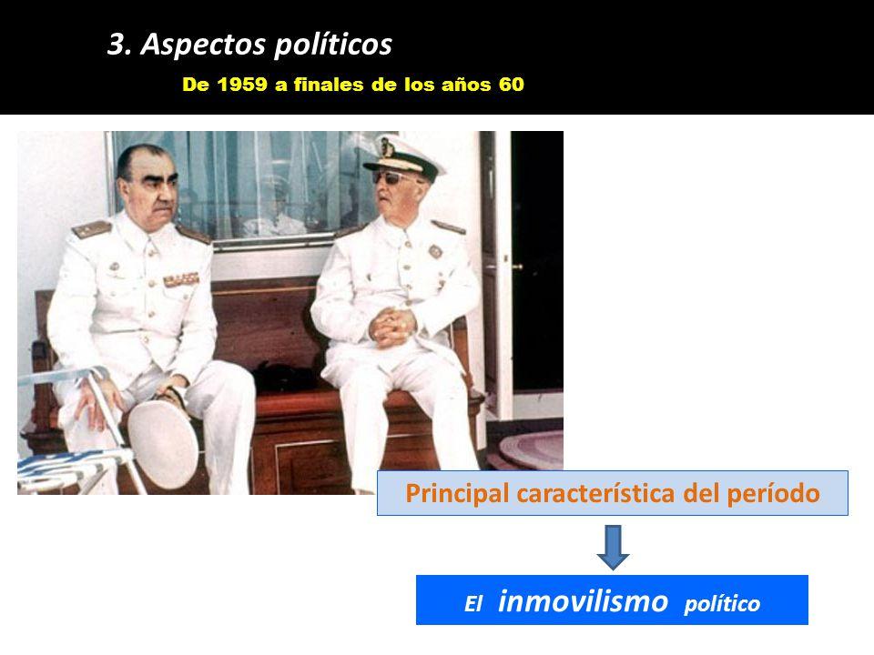 Principal característica del período El inmovilismo político