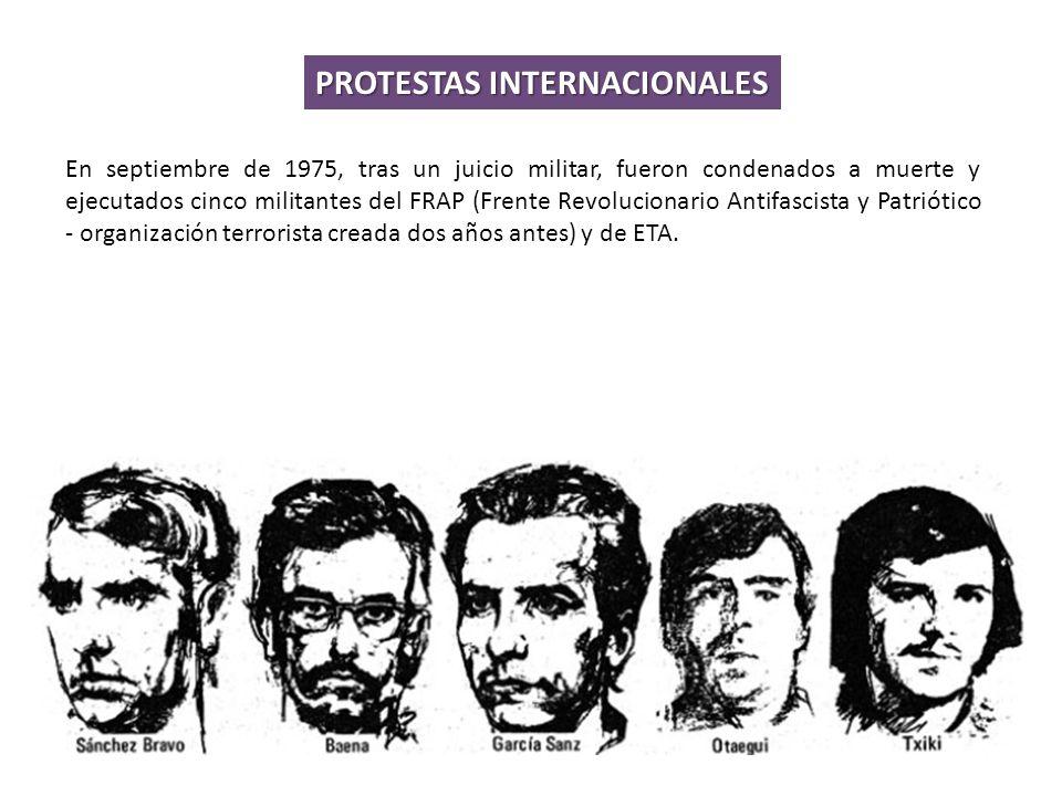 PROTESTAS INTERNACIONALES