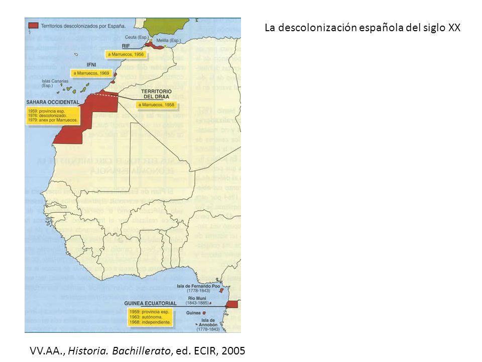 La descolonización española del siglo XX