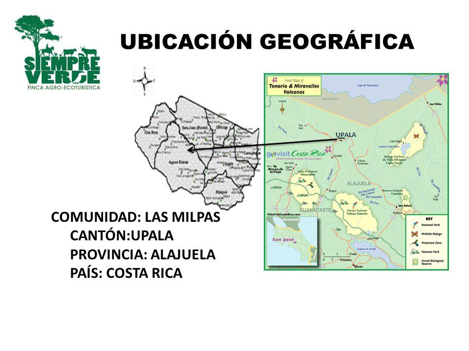 UBICACIÓN GEOGRÁFICA COMUNIDAD: LAS MILPAS CANTÓN:UPALA