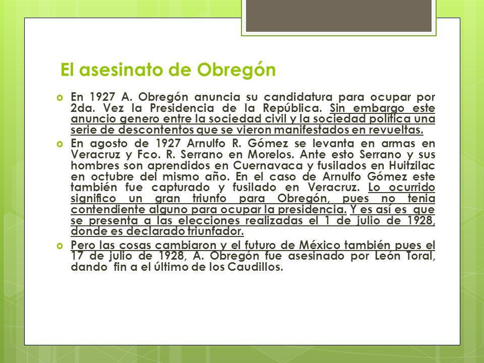 El asesinato de Obregón