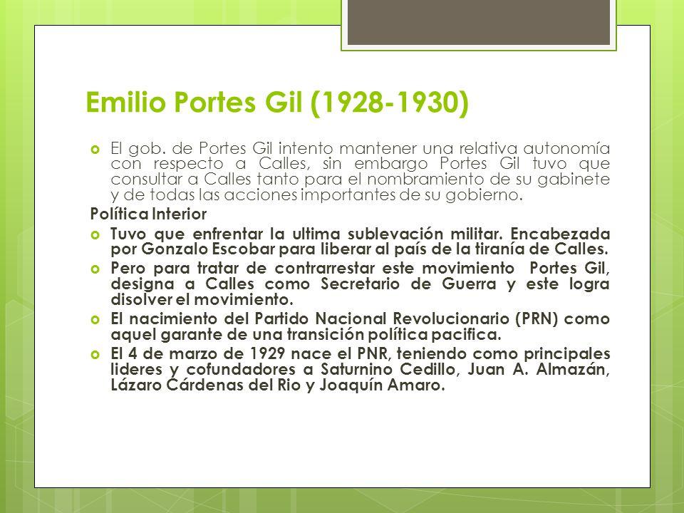 Emilio Portes Gil (1928-1930)