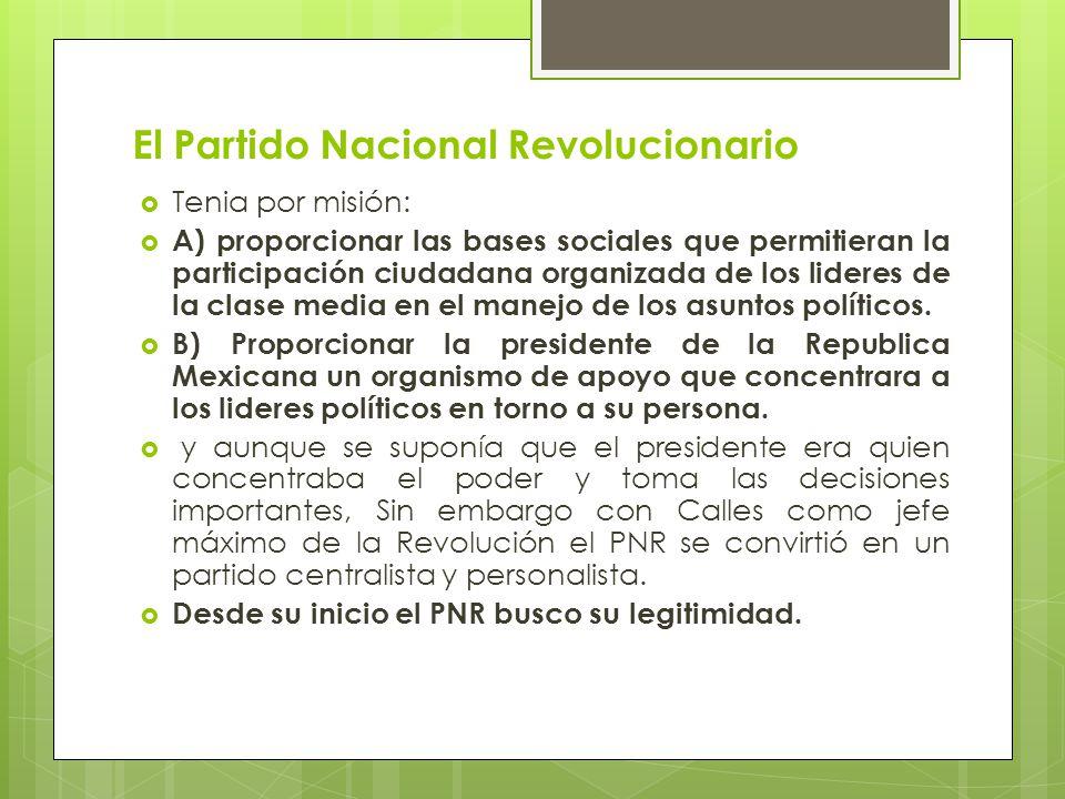 El Partido Nacional Revolucionario