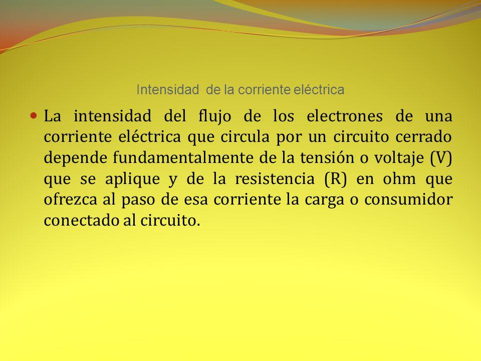 Intensidad de la corriente eléctrica