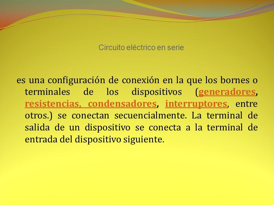 Circuito eléctrico en serie