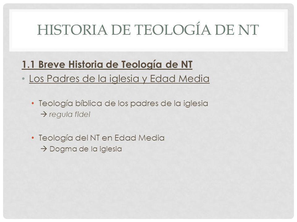 Historia de Teología de nt
