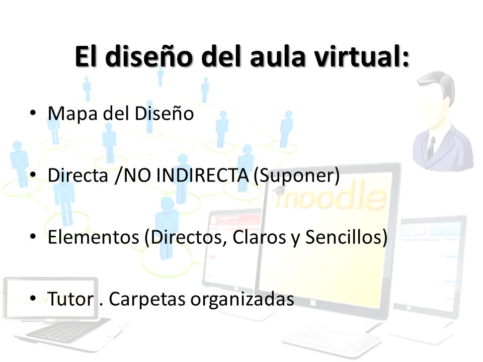 El diseño del aula virtual: