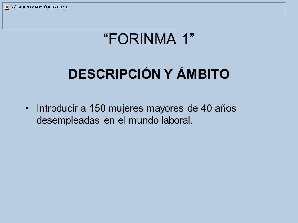 FORINMA 1 DESCRIPCIÓN Y ÁMBITO