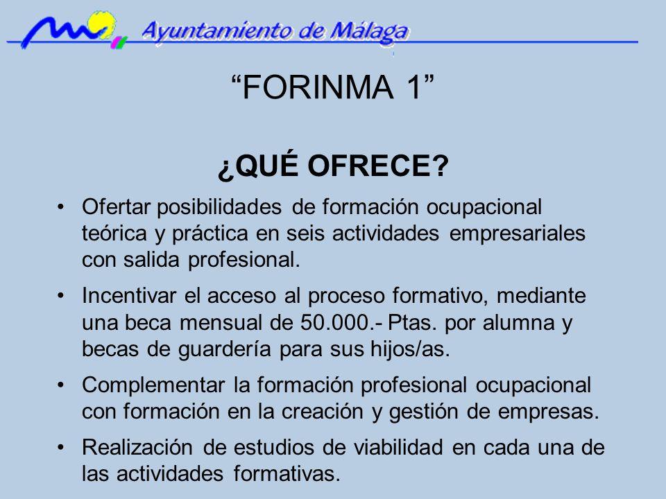 FORINMA 1 ¿QUÉ OFRECE