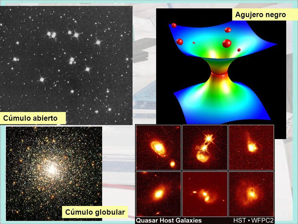 Agujero negro Cúmulo abierto Cúmulo globular
