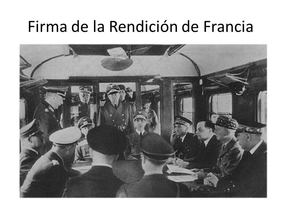 Firma de la Rendición de Francia