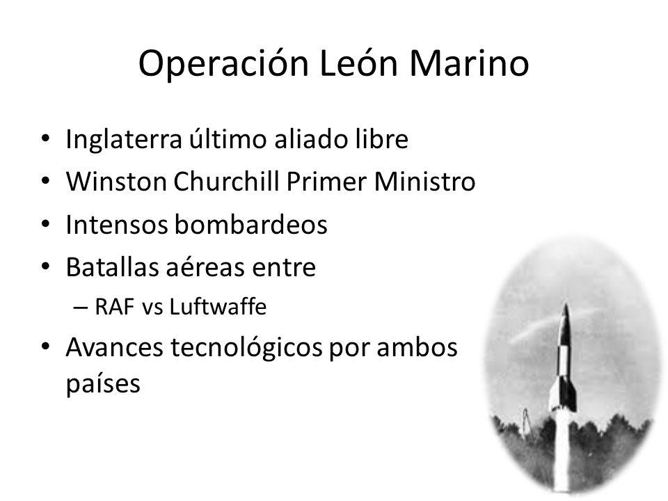 Operación León Marino Inglaterra último aliado libre