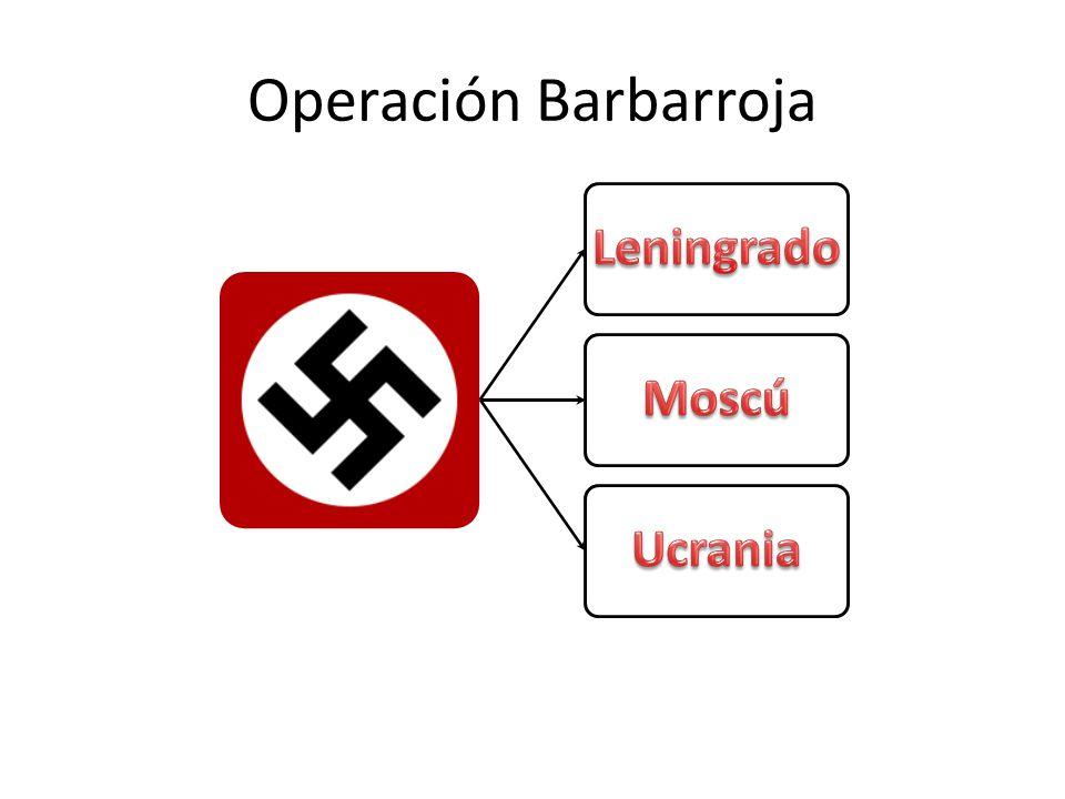 Operación Barbarroja Leningrado Moscú Ucrania