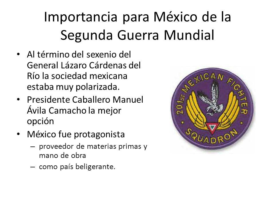 Importancia para México de la Segunda Guerra Mundial
