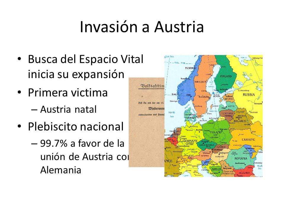 Invasión a Austria Busca del Espacio Vital inicia su expansión