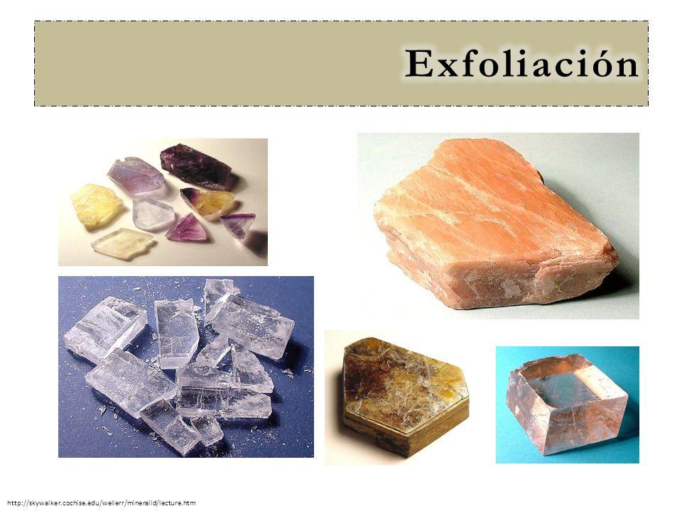 Exfoliación http://skywalker.cochise.edu/wellerr/mineralid/lecture.htm